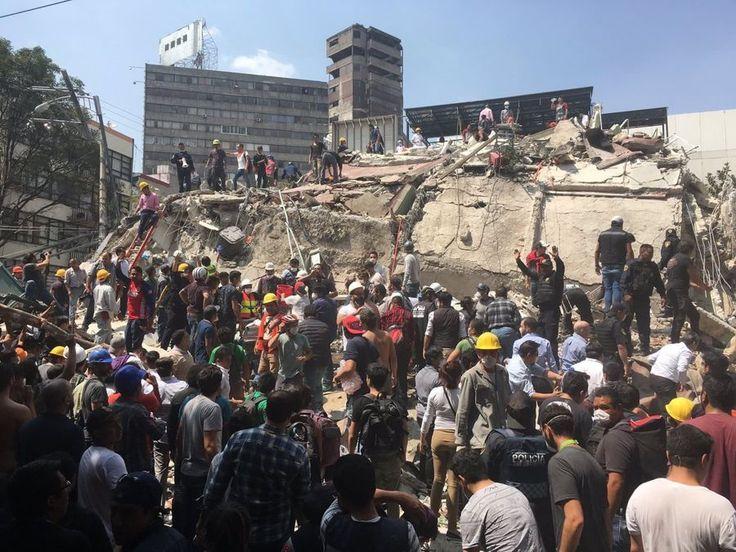 Terremoto Messico: un sisma M7.1 da Puebla a CDMX con bilancio che sale a 250 vittime