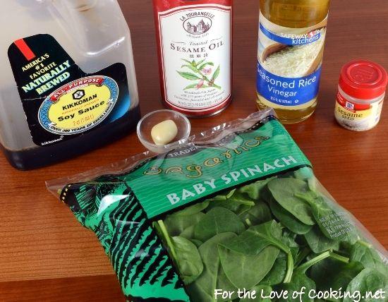 Sesame Garlic Wilted Spinach | VEGIES | Pinterest