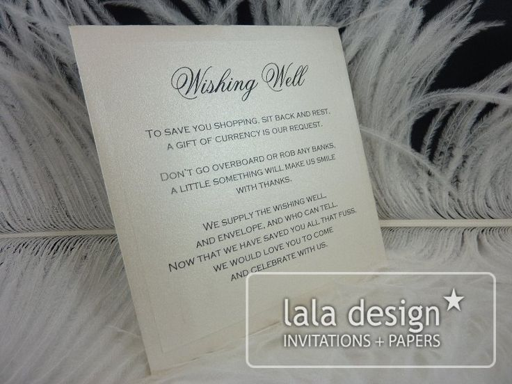 SIlver and black wishing well card