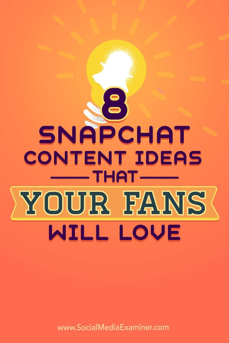 Do you want to use Snapchat?  Are you struggling to come up with content ideas?  In this article, youll discover eight ways to create Snapchat content that brings your account to life. Via @smexaminer.