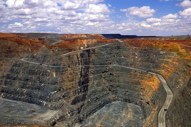 The KCGM Super Pit in Kalgoorlie, Western Australia, is the largest gold open-cut pit in Australia.
