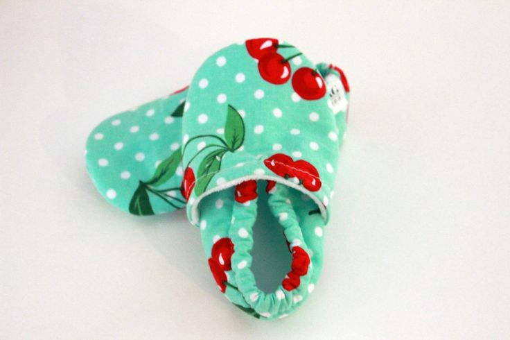 Baby girl shoes Baby Booties walking shoes Baby cherry shoes Infant Shoes toddler SWAG booties Mint Green cherries polkadots girl crib shoes by SWAGbooties on Etsy