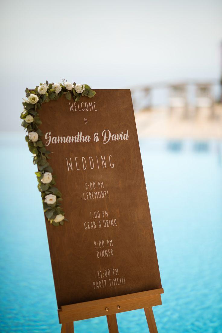 #welcomeboard | M&A Mykonos Weddings | www.mamykonosweddings.com