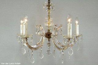 Kristallen Maria Theresia kroonluchter 26615 bij Van der Lans Antiek. Meer kristallen lampen op www.lansantiek.com