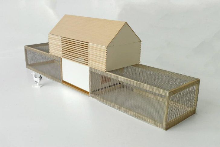 The Moop Chicken Coop is a modular, prefab coop for design minded individuals and chickens designed and sold by SF-based Nottoscale.