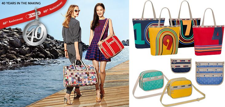 Rosie Tupper & Hye Park for Lesportsac 40th Anniversary Spring/Summer Campaign