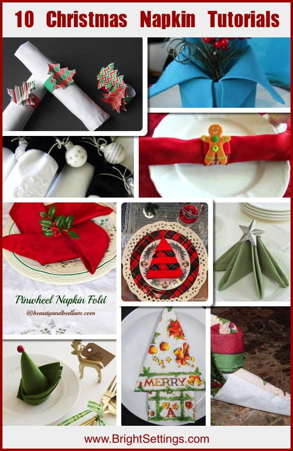 422 best images about the bright ideas blog on pinterest for 10 easy table napkin folding