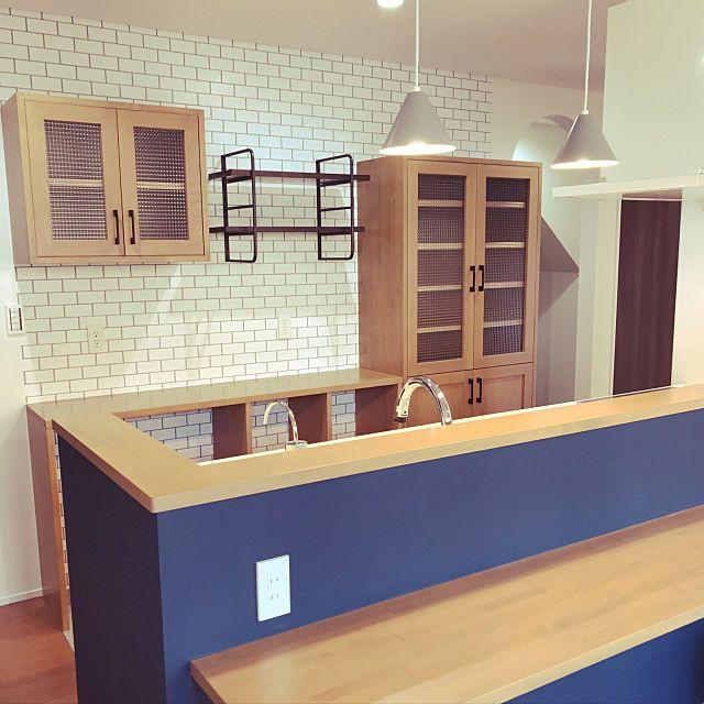 キッチン ライトグレイン Lixil Rの垂れ壁 黒板クロス ネイビーのインテリア実例 2017 11 07 11 05 15 Roomclip ルームクリップ インテリア インテリア 家具 垂れ壁