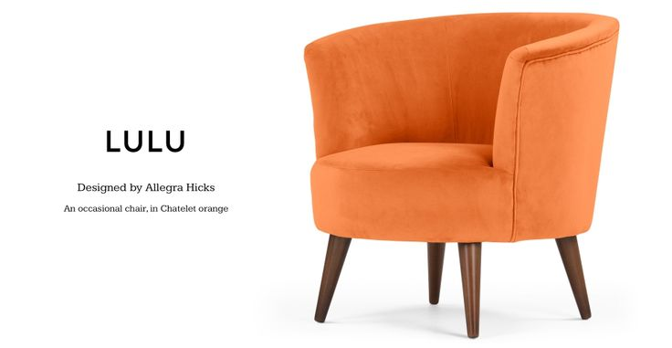 Lulu Scoop Chair in Chatelet orange | made.com