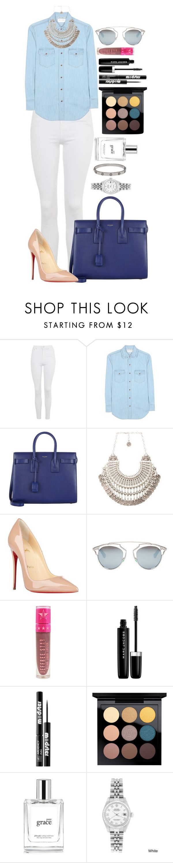 """Untitled #1500"" by fabianarveloc on Polyvore featuring Topshop, Yves Saint Laurent, Natalie B, Christian Louboutin, Christian Dior, Jeffree Star, Marc Jacobs, Ardency Inn, MAC Cosmetics and philosophy"