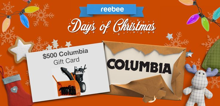 Win $500 towards a Columbia Outdoor Power Equipment snow thrower! Today we are @reebeeinc retailer of the day! Visit their site or download their app to be entered https://www.reebee.com/days-of-christmas #reebeeDaysOfChristmas *Daily Entry* Ends 12/24/2016