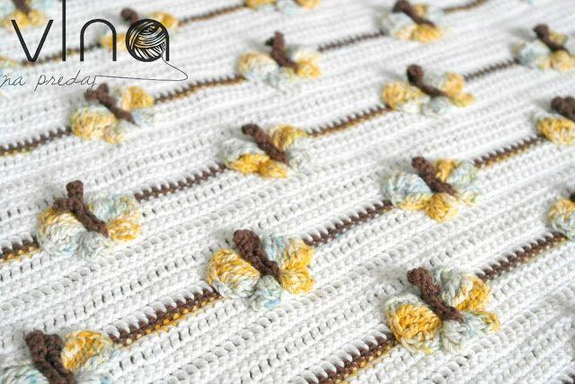 www.VlnaNaPredaj.sk: Motýľová deka