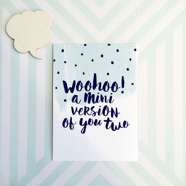 Kaart Woohoo #zwanger #hoera #baby