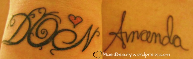 mine and my husbands names tattoos