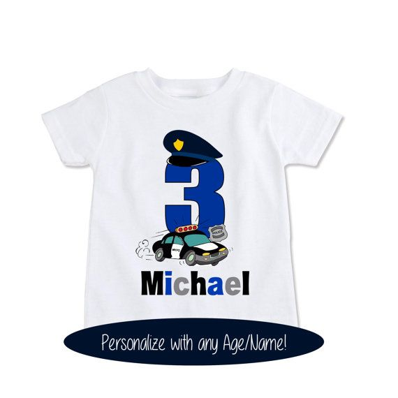 Custom tshirt Policeman birthday shirt kids police by Exit17