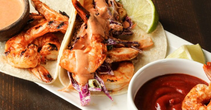 Everyone loves Sriracha, that famous spicy condiment. Put it on some shrimp tacos for a perfect taco.