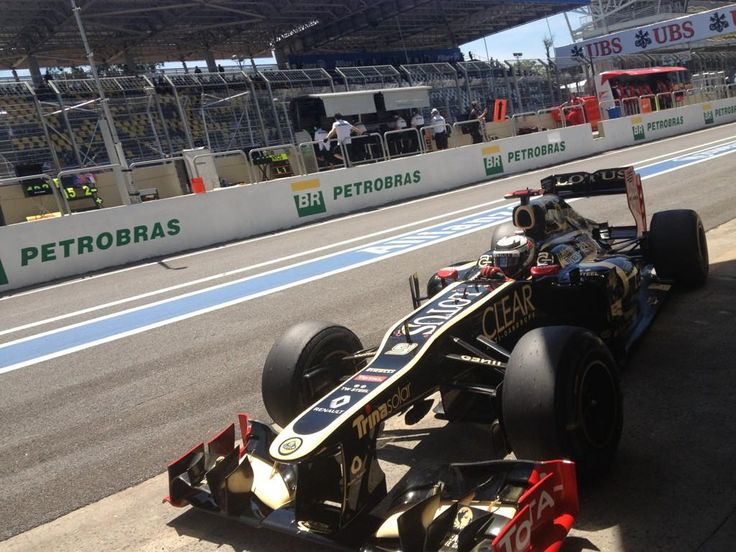 Kimi taking some shelter after a good run.     via| twitter - Lotus_F1team