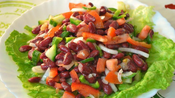 Испанский салат из Фасоли - Empedrado de judías!