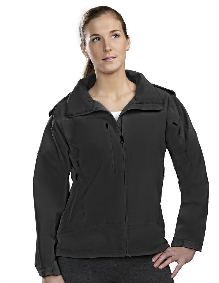 Women's Poly Stretch Bonded Soft Shell Hooded Jacket 6320 Portland #HoodedJacket #women'sJacket