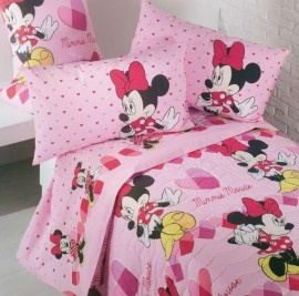 Disney Minnie Completo Lenzuola Cuori Letto Singolo Caleffi 2013 - Bed Sheets