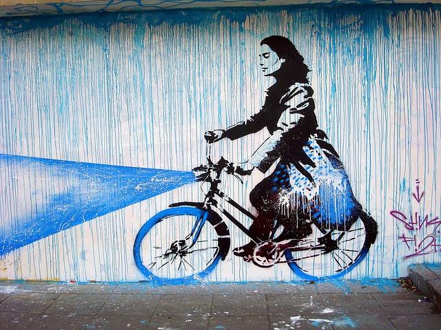 Cute street art in Bogota, Colombia.