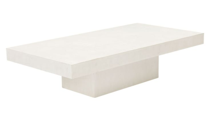 Element rectangular ivory coffee table reviews cb2