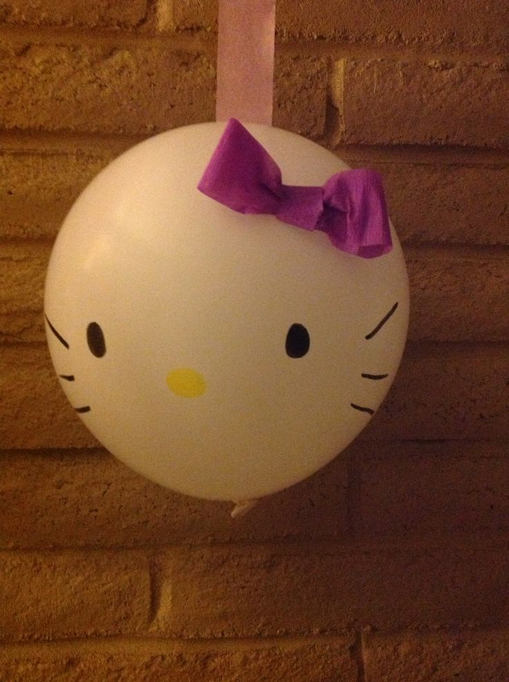 Hello Kitty Balloons. Perfect DIY party decoration.