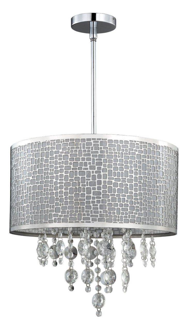 Modern Chrome Steel Chandelier U003e $140.00 Drum Shade, Four Lights   Http:// Pictures Gallery