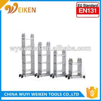 wuyi 2.6m 4*2 step aluminum multi-purpose ladder