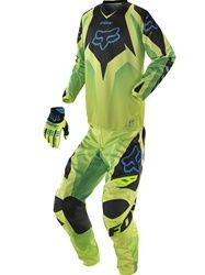 This is the outfit I want for my 17th birthday. It matches my bike perfectly and I just love that there is no white. White is so pointless when you're dirtbiking. I WAAANT IT SOOOO BAAAAAAD!! <3 Fox Racing HC Race Jersey 180 Pant Gloves Package