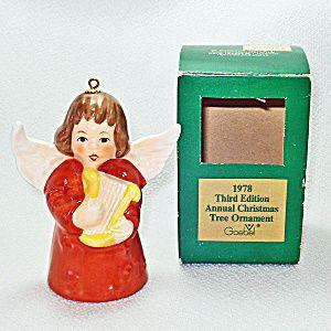 Goebel 1978 Christmas Angel Bell Ornament In Box