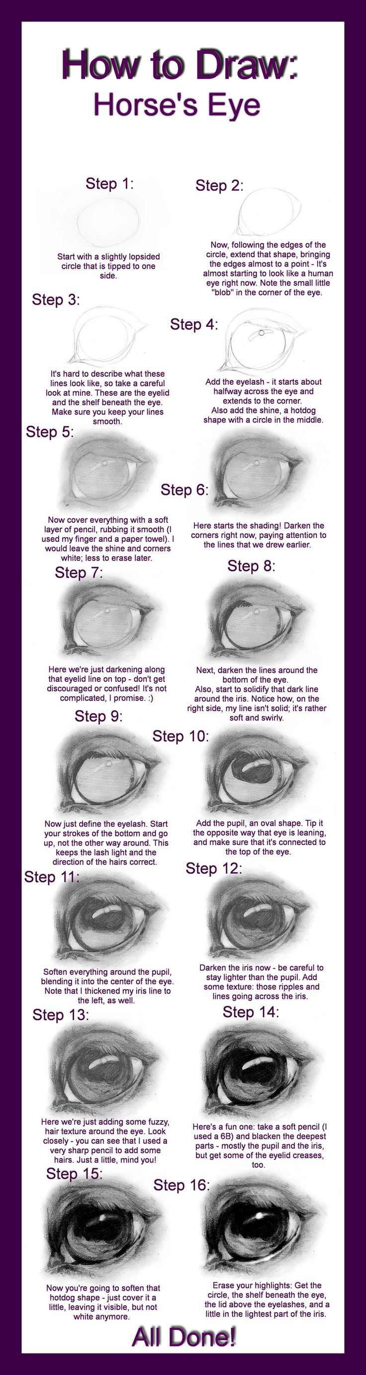 How to Draw: Horse's Eye by ~Define-X on deviantART