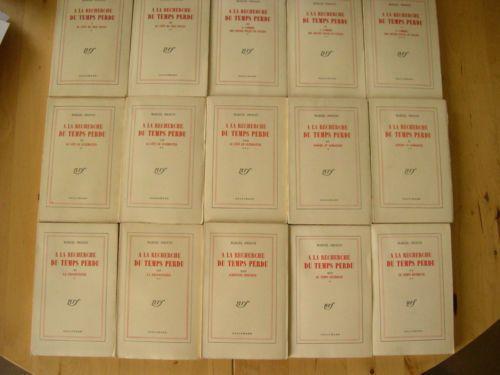 A La Recherche Du Temps Perdu De Marcel Proust (Complet En 15 volumes) aux Editions Gallimard