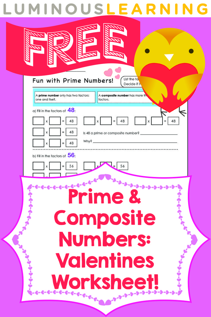 82 best luminous learning math resources images on pinterest luminous learning free valentines worksheet prime and composite numbers check out all our free robcynllc Image collections