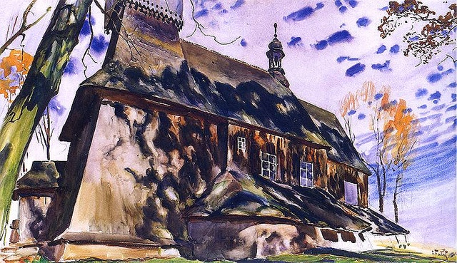 Falat, Julian (1853-1929) - 1906 Church in Osiek (National Museum, Krakow, Poland) by RasMarley, via Flickr
