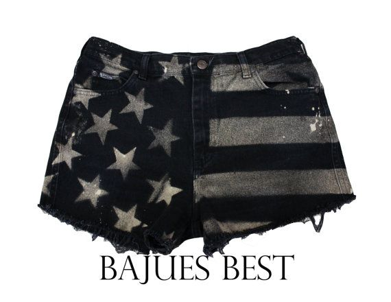 black american flag shorts