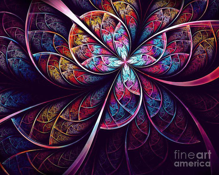 Abstract Flower Digital Art by Oksana Ariskina #OksanaAriskina #OksanaAriskinaFineArtPhotography #Artworks #FineArtPhotography #HomeDecor #FineArtPrints #FineArtAbstract #Fractal #Abstract #ArtForSale  #Air #Peacock #Violet #Blue #Wave #feather #Purple #Flower