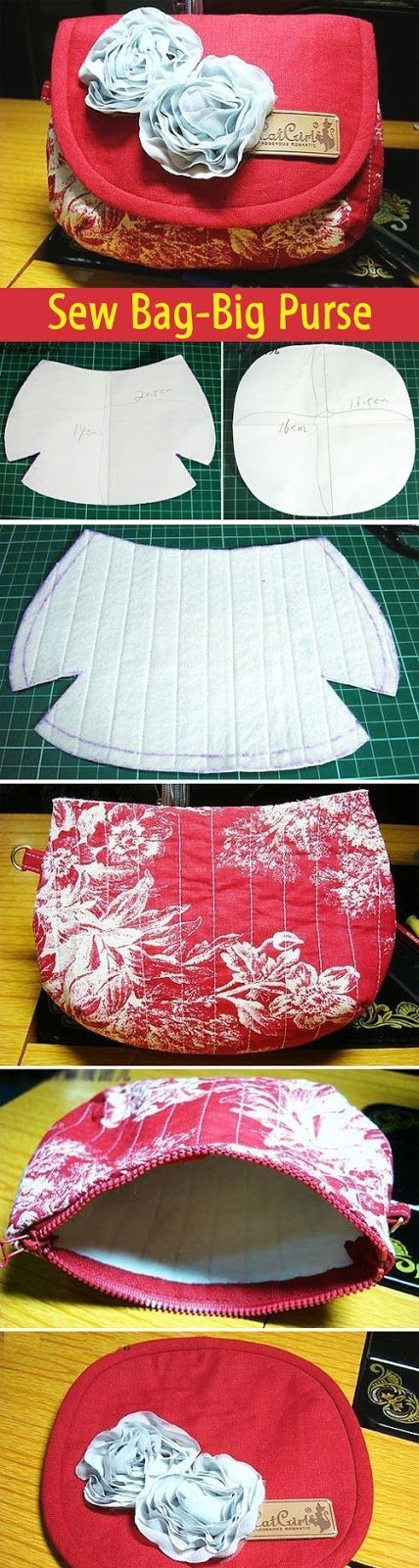Sew Bag-Big Purse. DIY tutorial with patterns. http://www.handmadiya.com/2012/04/blog-post_28.html: