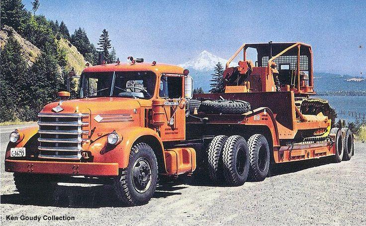 Diamond T   Diamond T P400 Series Fire Truck at a lot in Yakima, WA., July 1999 .