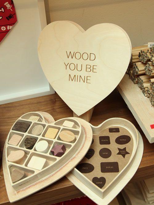 wooden valentine: Valentines Ideas, David Stark S, Wood Design, David Starks, Design Wood, Valentine S, Wood Chocolate