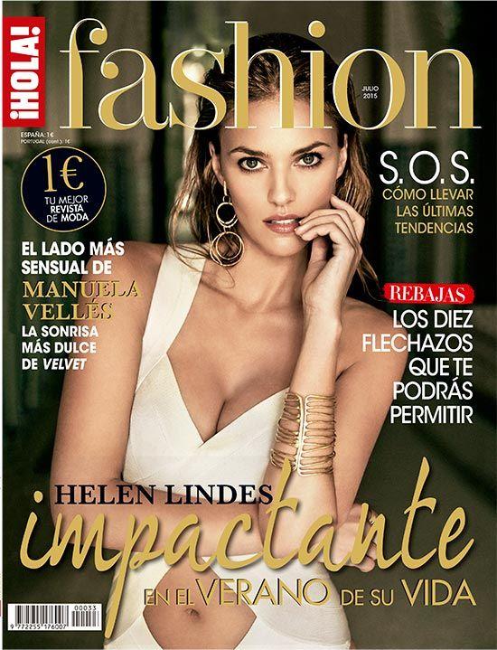 Helen Lindes en portada de ¡HOLA! Fashion #helenlindes #modelo #HOLAFashion #revistas #moda