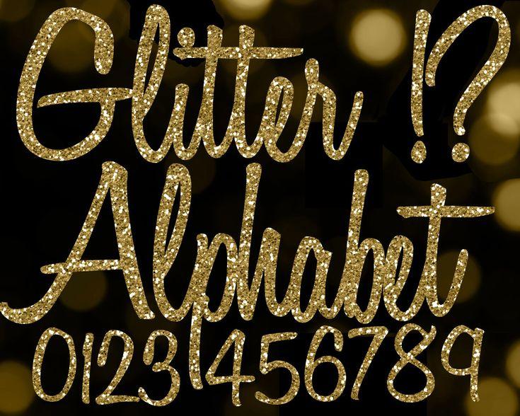 Gold Glitter Alphabet Clipart: Glitter Alphabet Clip Art ...