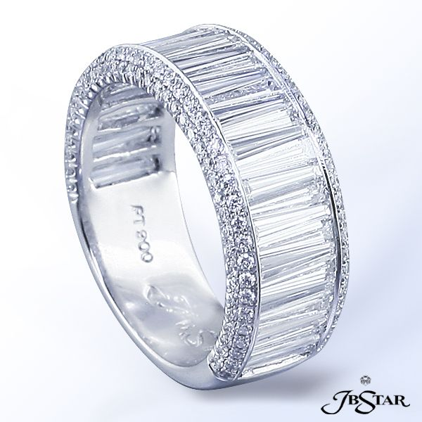 JB Star platinum and diamond wedding band.  Available at Alson Jewelers.