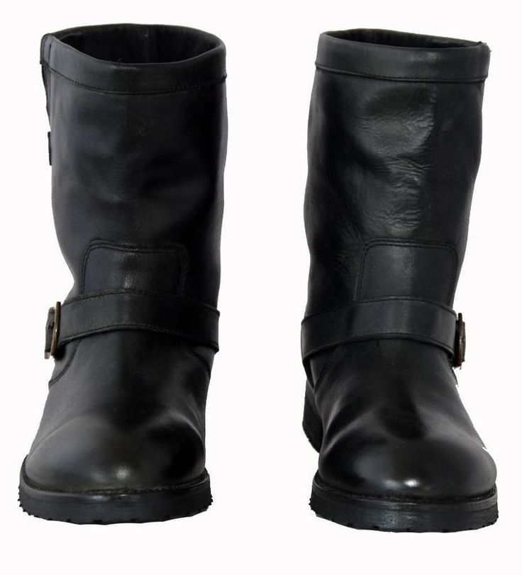 "Kenji ""Tania"" Black Genuine Leather Low Calf Length Women's Boots Size 39"