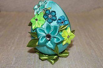 Dekorácie - Veľkonočné tyrkys vajce - 5170509_