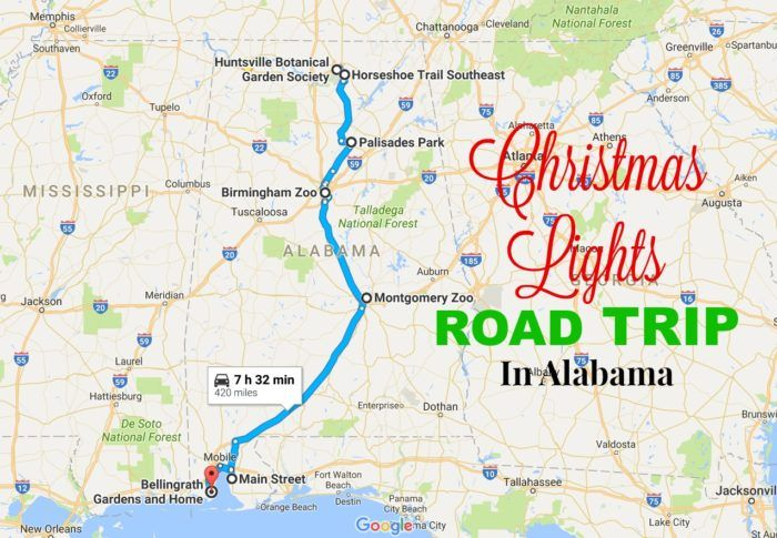 Travel | Alabama | Attractions | Things To Do | Christmas Lights | Light Displays | Road Trip