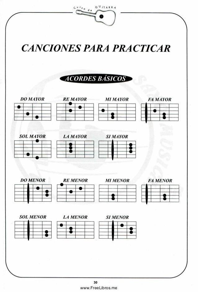 Curso De Guitarra Acordes De Guitarra Canciones De Guitarra Guitarra Música