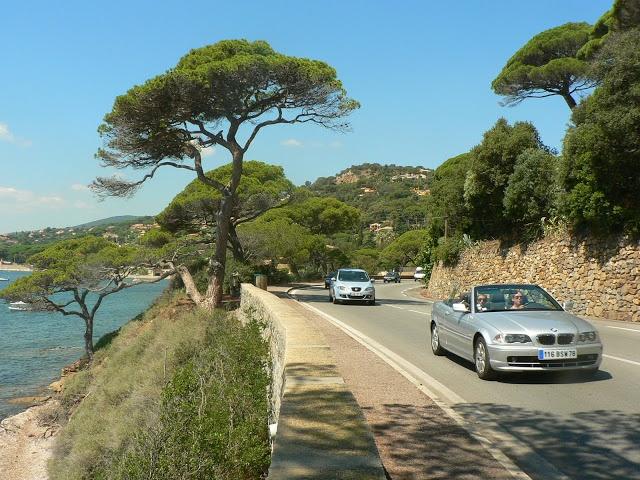 france - road of sainte maxime on the cote d'azur