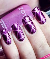 Resultado de imagen para uñas decoradas moradas