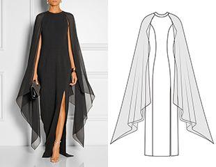 2 в 1: Готовая выкройка вечернего платья в пол